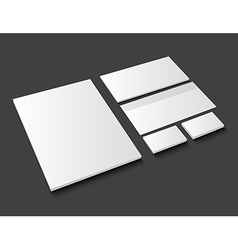 Corporate identity template stationery on dark vector image