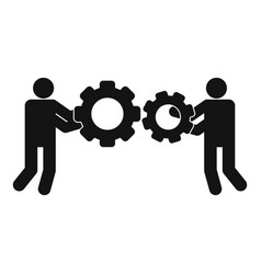 employee with gear icon simple style vector image