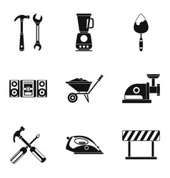 modernization icons set simple style vector image