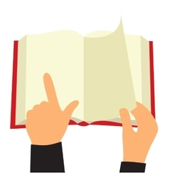 Reading book flat sign vector