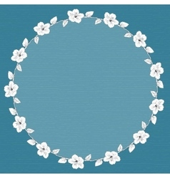 round frame with hibiscus flowers vector image vector image