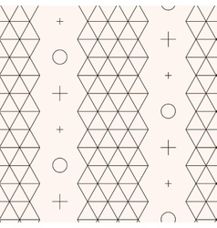 Seamless pattern Geometric texture vector image vector image