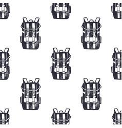 vintage hand drawn backpacks seamless pattern vector image vector image