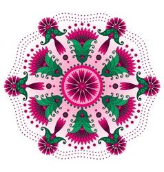0 floral mandala vector image vector image