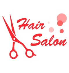 barbershop red symbol vector image