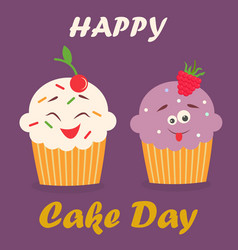 Holiday poster for international cake day vector