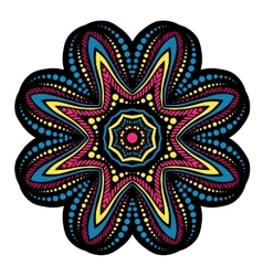 Mandala tribal ethnic ornament vector image