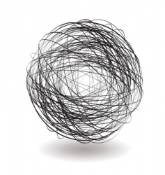 scribble single vector image