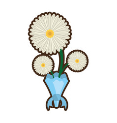 bouquet daisy flower ornament image vector image vector image