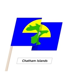 Chatham Islands Ribbon Waving Flag Isolated on vector image vector image