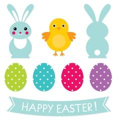 Easter design elements set vector image vector image