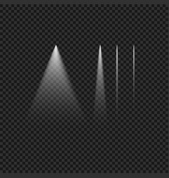 Realistic white light glowing set vector