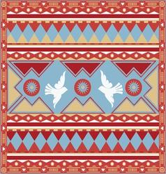 spring birds ornamental print vector image