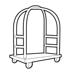 Cart in hotel icon outline style vector image vector image