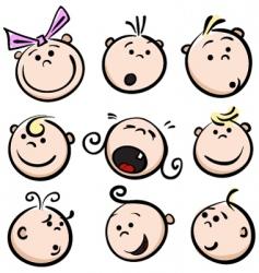 children emotions vector image vector image