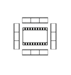 Cinema logo movie theater sign film strips card vector image vector image