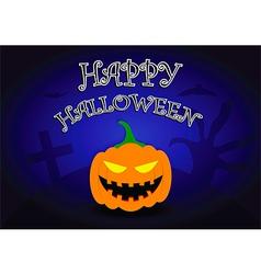 Halloween background with pumpkin head vector image vector image