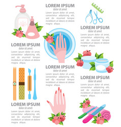 infographics beauty salon nail care vector image