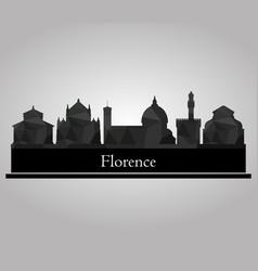 skyline florence vector image