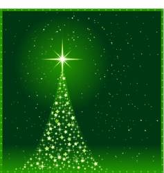 Square green christmas tree vector