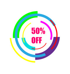 50 off sale new technology of the future icon 50 vector