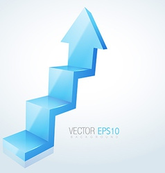 Abstract 3d arrow design vector