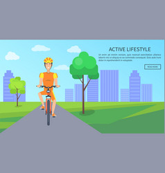 active lifestyle colorful card vector image