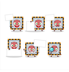 Among us emergency button cartoon character bring vector