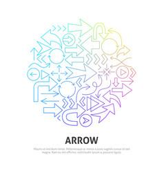 arrow circle concept vector image