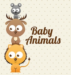 Baby animals design vector