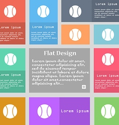 baseball icon sign Set of multicolored buttons vector image vector image