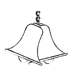 Bells hanging on chain instrument sound vector