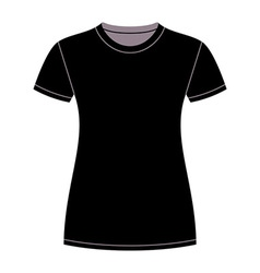Black t-shirt design template vector image