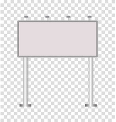blank big billboard on transparent background vector image