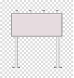 Blank big billboard on transparent background vector