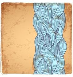 Blue Vintage Waves vector image