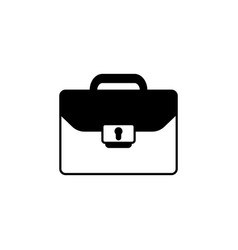 briefcase icon black vector image