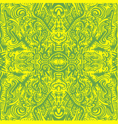 Bright sunny psychedelic trippy abstract mandala vector