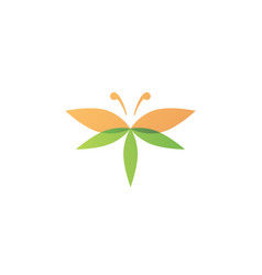 cannabis butterfly logo icon vector image