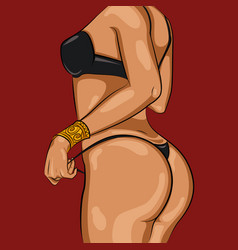 cartoon sexy woman body template vector image