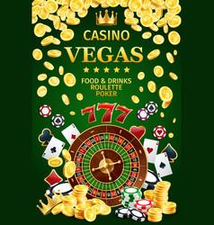 casino online poster internet gambling vector image