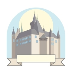 Castle with a bridge vector