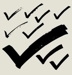 check icon marker doodle sketch vector image