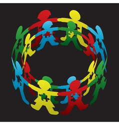 Child autism circle hope vector