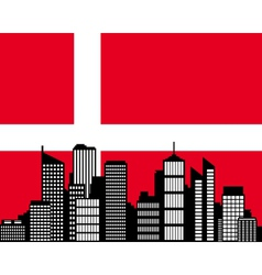 City and flag of Denmark vector image
