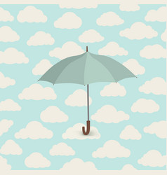 cloud pattern umbrella rainy weather sky seamless vector image