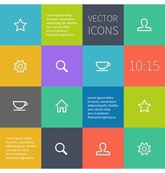 colour square infographics with icons vector image