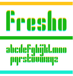 Condensed original fresh bold display font design vector