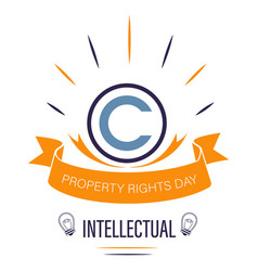 Copyright sign isolated icon intellectual vector
