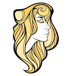 Decorative portrait shaman blondie girl vector